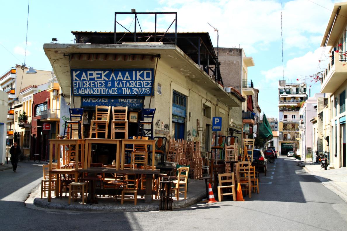 Ve always loved the random cafes along the street that european