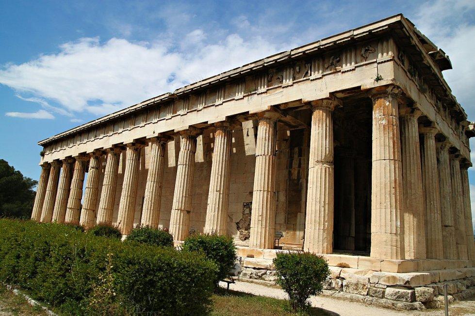 greek agora temple of hephaestus 1