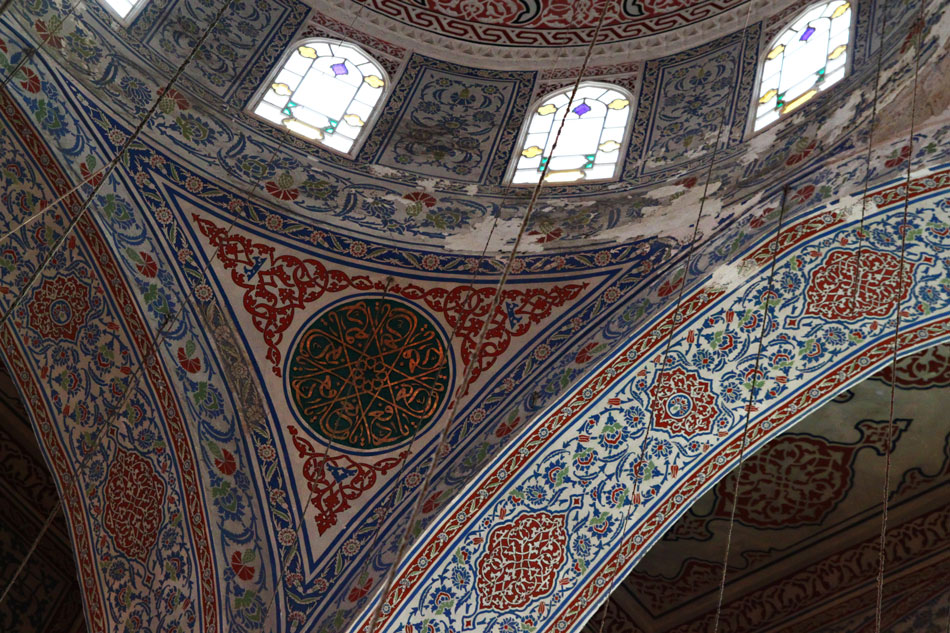istanbul blue mosque detail