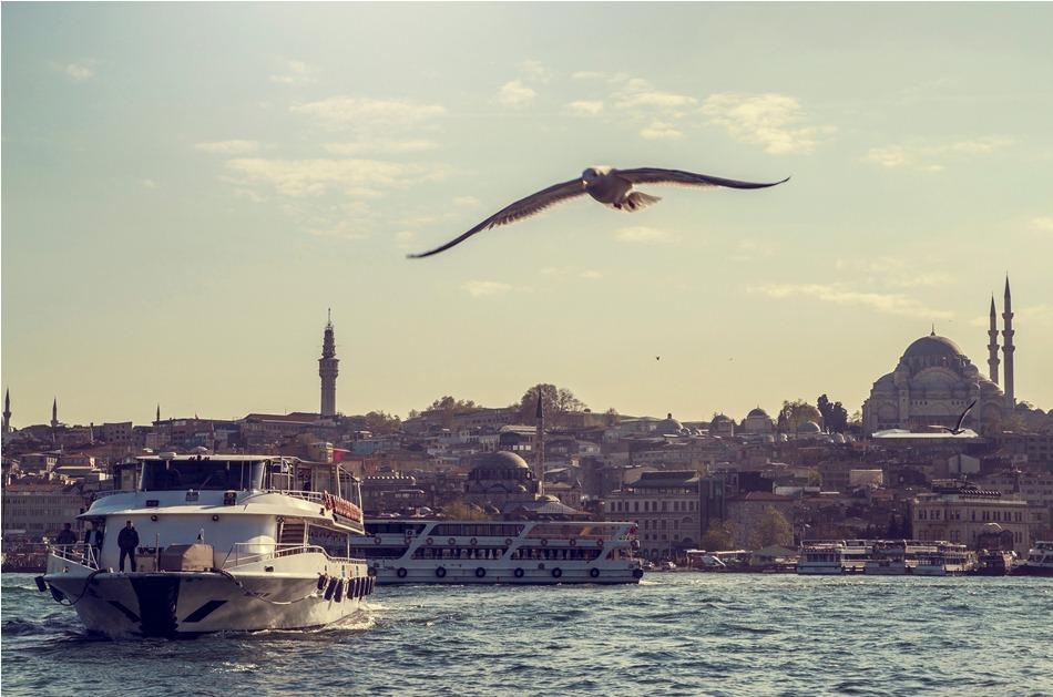 istanbul eminonu sunset