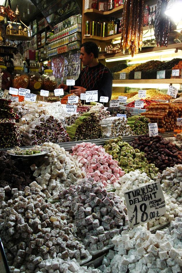 istanbul spice bazaar turkish delight